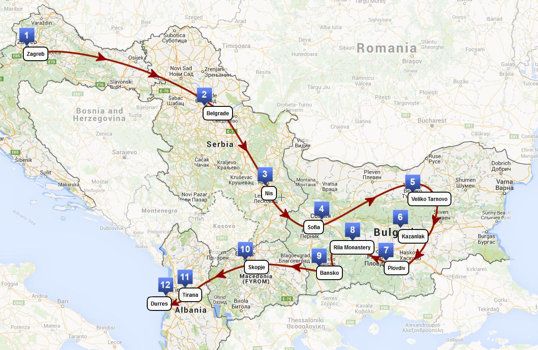 European Tours Bulgaria Romaina Macedonia Albania Kosovo